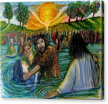 Jesus Came To John The Baptist  Canvas Print by Richard  Hubal