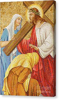 Jesus Carrying The Cross Canvas Print by Unknown