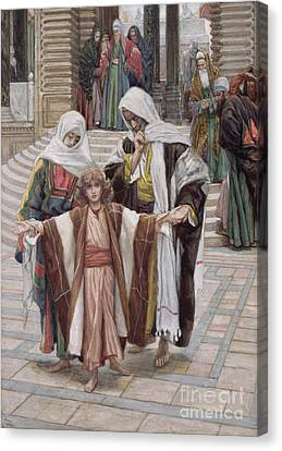 Jesus Found In The Temple Canvas Print by Tissot