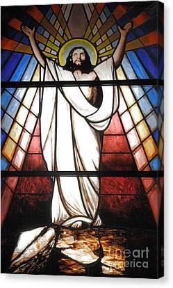 Jesus Is Our Savior Canvas Print by Gaspar Avila