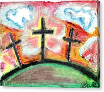Jesus Loves You Canvas Print by Levi Glassrock