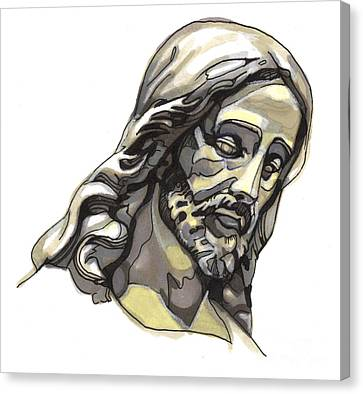 Jesus No 2 Canvas Print by Edward Ruth