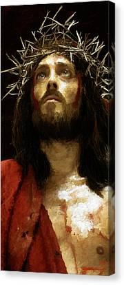 Jesus Of Nazareth Canvas Print by James Shepherd