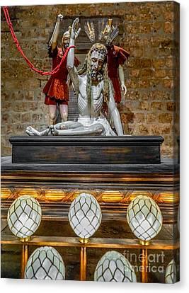 Jesus Suffering Canvas Print by Adrian Evans