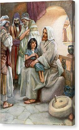 Jesus Teaching The People Canvas Print by Arthur A Dixon