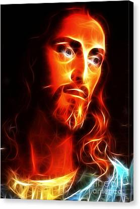 Jesus Thinking About You Canvas Print by Pamela Johnson