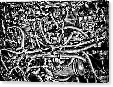 Jet Engine Canvas Print by Olivier Le Queinec