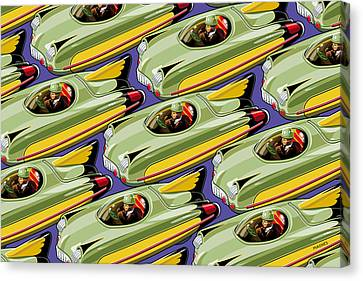 Jet Racer Rush Hour Canvas Print by Ron Magnes