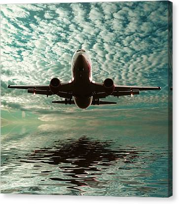 Jet Square Canvas Print by Sharon Lisa Clarke