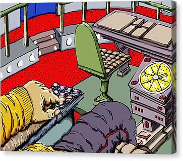 Jetisoning The Pod Canvas Print by Gregg Dutcher