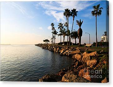Jetty On Balboa Peninsula Newport Beach California Canvas Print by Paul Velgos