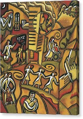 Jewish Community Canvas Print by Leon Zernitsky