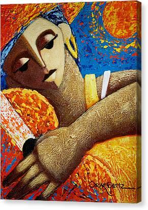 Jibara Y Sol Canvas Print by Oscar Ortiz