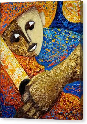 Jibaro Y Sol Canvas Print by Oscar Ortiz