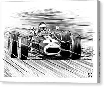 Jim Clark Lotus Canvas Print by Robin DaSilva