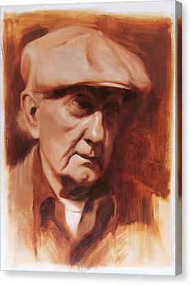 Jim In Monochrome Canvas Print by Anna Rose Bain