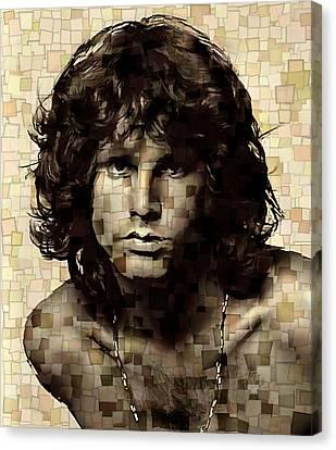 Jim Morrison Cubism Canvas Print by Dan Sproul