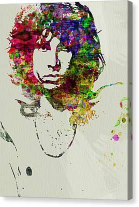 Jim Morrison Canvas Print by Naxart Studio