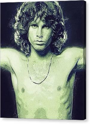 Jim Morrison Canvas Print by Semih Yurdabak