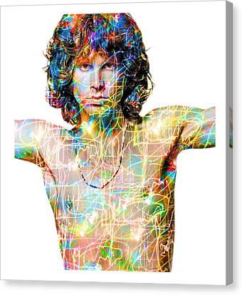 Jim Morrison The Doors Canvas Print by Mal Bray