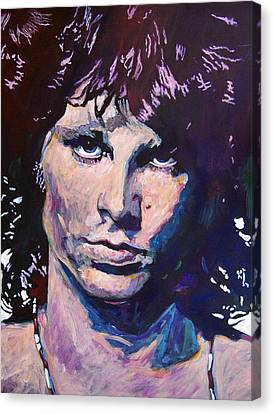 Jim Morrison The Lizard King Canvas Print by David Lloyd Glover