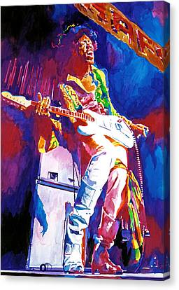 Jimi Hendrix - The Ultimate Canvas Print by David Lloyd Glover