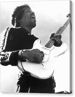 Jimi Hendrix (1942-1970) Canvas Print by Granger