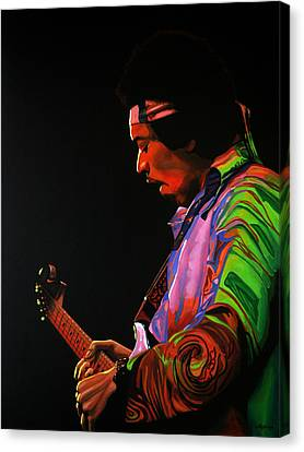 Jimi Hendrix Painting 4 Canvas Print by Paul Meijering