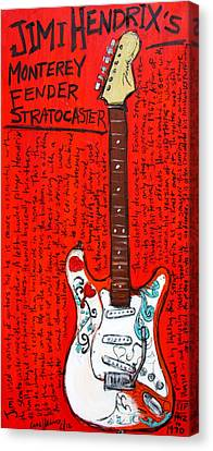 Jimi Hendrix's Monterey Strat Canvas Print by Karl Haglund