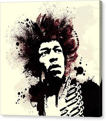 Jimi Canvas Print by Laurence Adamson