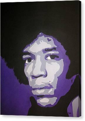 Jimi Canvas Print by Rock Rivard