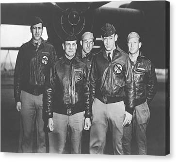 Jimmy Doolittle And His Crew Canvas Print by War Is Hell Store