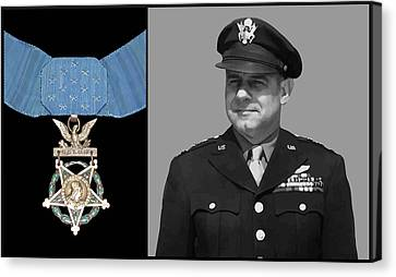 Jimmy Doolittle And The Medal Of Honor Canvas Print by War Is Hell Store
