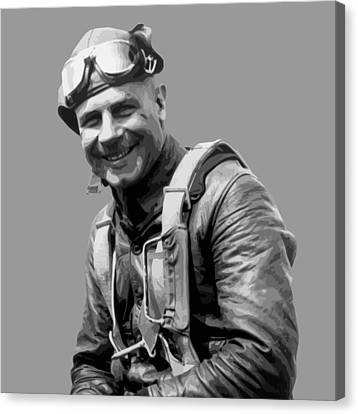 Jimmy Doolittle Canvas Print by War Is Hell Store