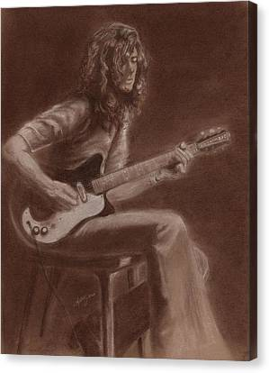 Jimmy Page Canvas Print by Kathleen Kelly Thompson