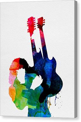 Jimmy Watercolor Canvas Print by Naxart Studio