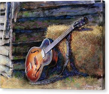Jim's Guitar Canvas Print by Andrew King