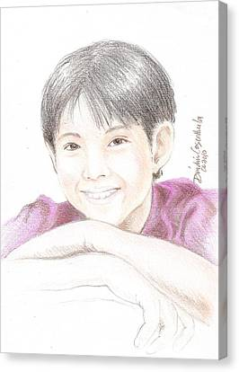 Jiro Canvas Print by Dindin Coscolluela
