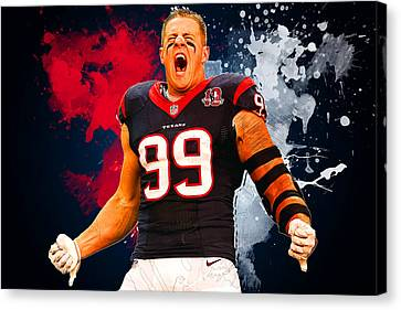 Jj Watt Canvas Print by Semih Yurdabak