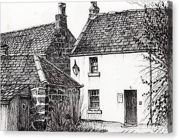 Jm Barrie's Birthplace Canvas Print by Vincent Alexander Booth