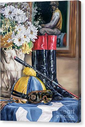 Jockey Still Life Canvas Print by Thomas Allen Pauly