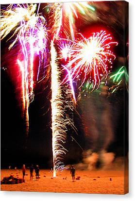 Joe's Fireworks Party 1 Canvas Print by Charles Harden