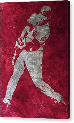Joey Votto Cincinnati Reds Art Canvas Print by Joe Hamilton