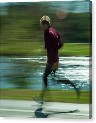 Jogging Through Forest Park Canvas Print by Garry McMichael