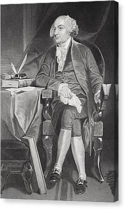 John Adams 1735-1826. First Canvas Print by Vintage Design Pics