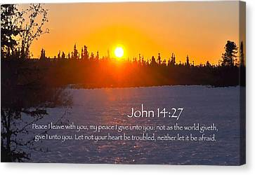 John Chapter 14 Verse 27 Canvas Print by Arlene Rhoda Nanouk