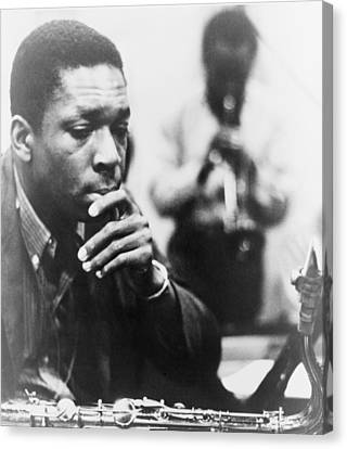 John Coltrane 1926-1967, Master Jazz Canvas Print by Everett