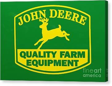 John Deere Farm Equipment Sign Canvas Print by Randy Steele