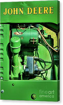 John Deere Tractor Engine Detail Canvas Print by Olivier Le Queinec
