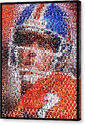 John Elway Mosaic Canvas Print by Paul Van Scott